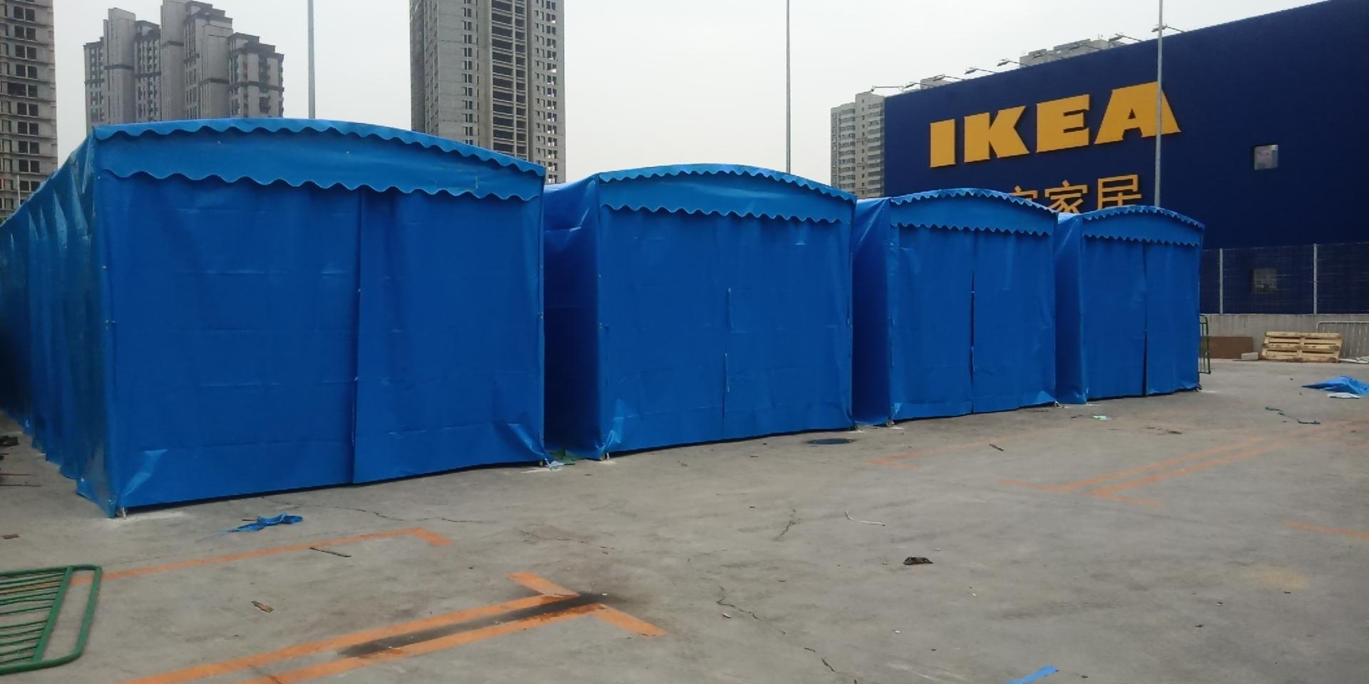 推拉雨棚大型活动雨棚厂家定做_活动雨棚上门安装
