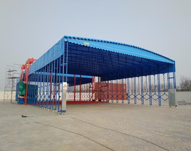 可吊装的电动雨棚_山东创力蓬房科技有限公司