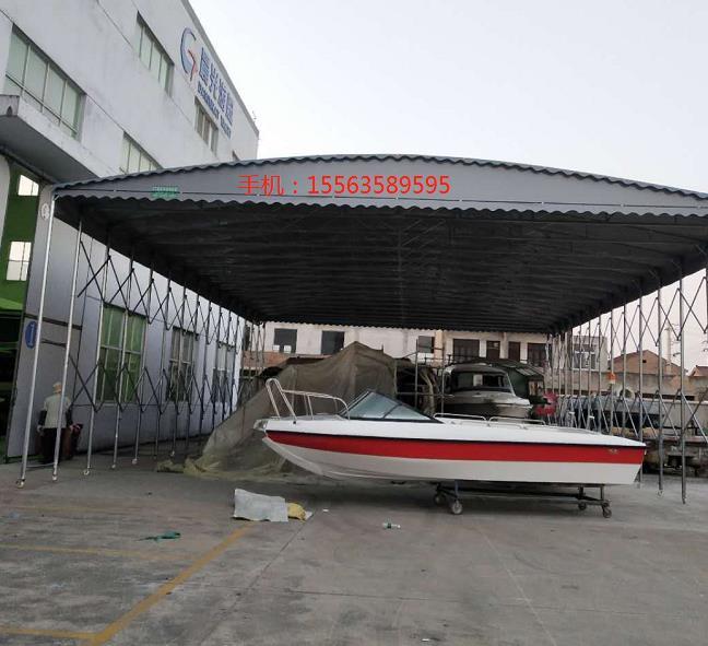 晨光游艇公司按照电动推拉篷_山东创力蓬房科技有限公司